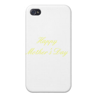 Happy Mother's Day Yellow The MUSEUM Zazzle Gifts Case For iPhone 4