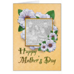 Happy Mother's Day Zinnias Photo Greeting Card