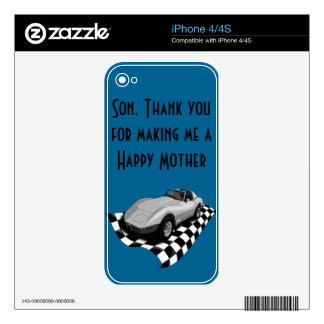 Happy Mother's/Father's Day. Customizable Decals For The iPhone 4S