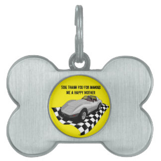 Happy Mother's/Father's Day. Customizable Pet Name Tag