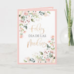 Happy Mother's Mother's Day Peach Floral Card