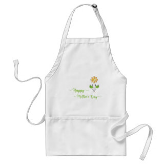 Happy-Mothers-with Flower Unique Adult Apron