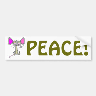 Happy Mouse Bumper Stickers
