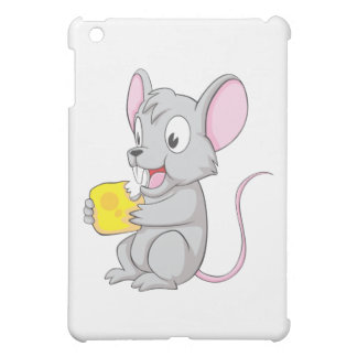 Happy Mouse Eating Cheese iPad Mini Cases