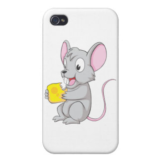 Happy Mouse Eating Cheese Case For iPhone 4