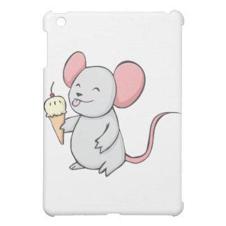 Happy Mouse Eating Ice Cream iPad Mini Covers