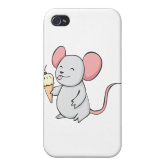 Happy Mouse Eating Ice Cream iPhone 4/4S Cover