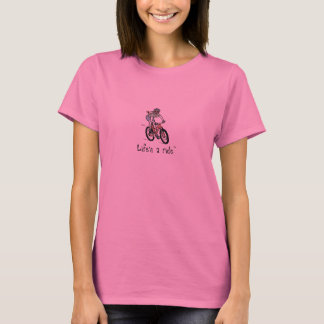 Happy Mt. Biker Girl T-Shirt