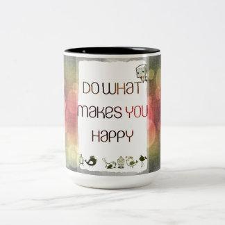 +++ Happy #Mugs Two-Tone Coffee Mug
