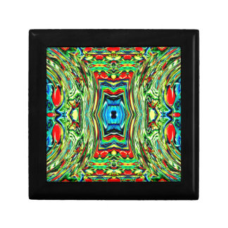 Happy Multicolor Design.  Digital Abstract Art Jewelry Boxes