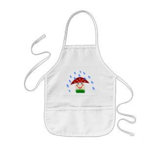 Happy mushroom kids' apron