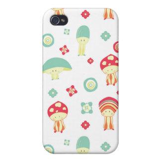 Happy Mushroom pattern iPhone 4/4S Cover