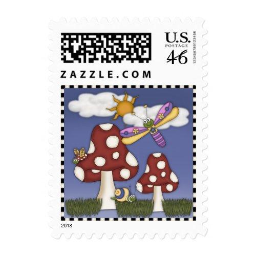 Happy Mushroom stamp