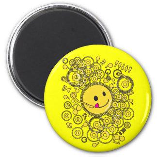 Happy_Music 2 Inch Round Magnet
