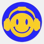 Happy_Music Classic Round Sticker