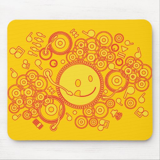 Happy_Music Mouse Pads