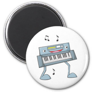 Happy Musical Keyboard Performer 2 Inch Round Magnet