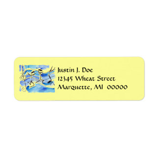 Happy Musical Notes Flipping Music Address Labels