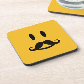 Happy Mustache Smiley custom coasters