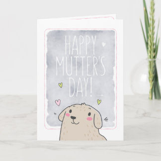 Happy Mutter's Day dog mom Mother's Day card