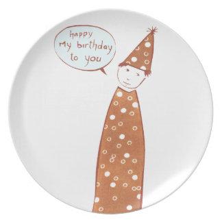 Happy My Birthday Melamine Plate