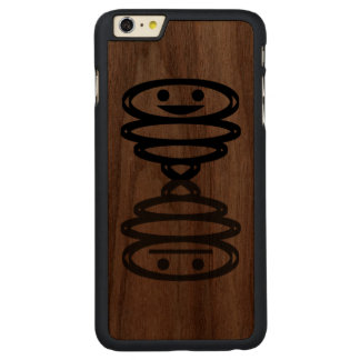 Happy n Numb Carved Walnut iPhone 6 Plus Slim Case