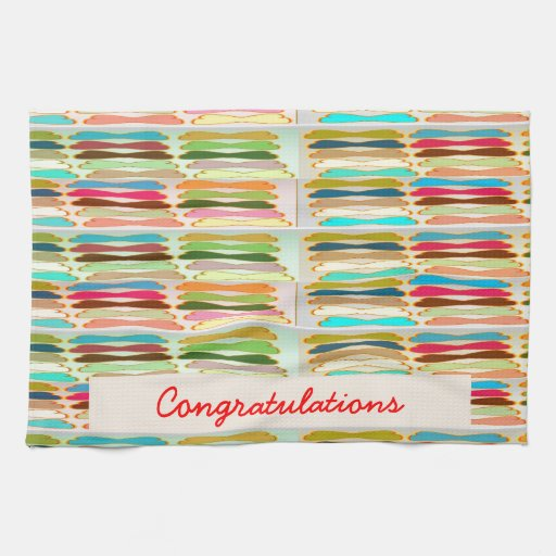Happy n Vibrant Colorful Life - Editable Text Hand Towels
