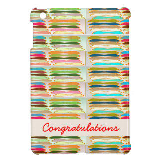 Happy n Vibrant Colorful Life - Editable Text iPad Mini Covers
