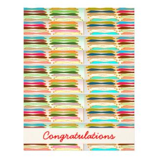 Happy n Vibrant Colorful Life - Editable Text Letterhead