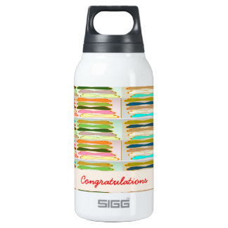 Happy n Vibrant Colorful Life - Editable Text Thermos Bottle