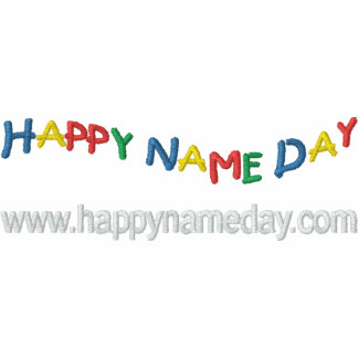 Happy Name Day Embroidered Polo Shirts