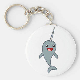Happy Narwhal Keychain