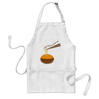 happy nation noodle day adult apron