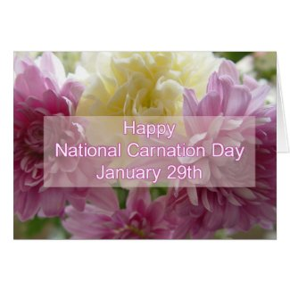 Happy National Carnation Day Black Card