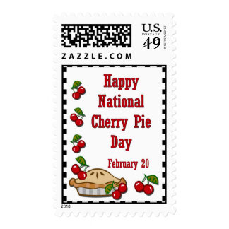 Happy National Cherry Pie Day February 20 Postage Stamps