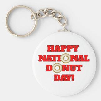 Happy National Donut Day! Keychain
