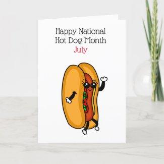 Happy National Hot Dog Day July Holidays Holiday Card