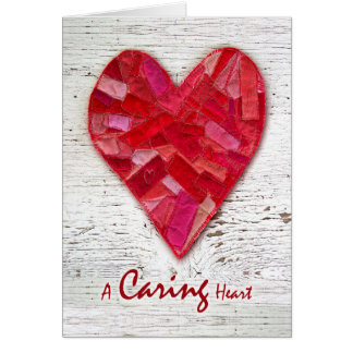Happy National Nurses Week, Stitched Fabric Heart Card