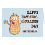 Happy National Peanut Day September 13 Greeting Card