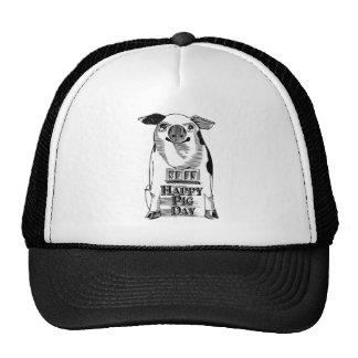Happy National Pig Day Trucker Hat