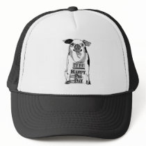 Happy National Pig Day Trucker Hat