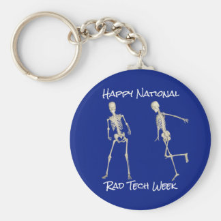 """Happy National Rad Tech Week"" with Skeletons Keychain"