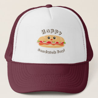 Happy National Sandwich Day Cute And Kawaii Trucker Hat