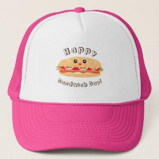 Happy National Sandwich Day Cute And Kawaii Trucker Hat