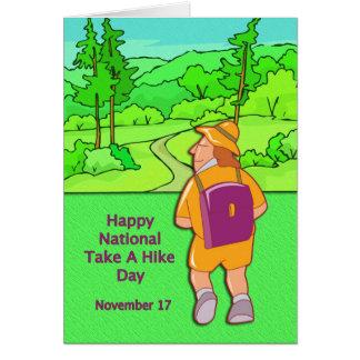 Happy National Take A Hike Day November 17 Card