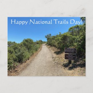Happy National Trails Day! Postcard