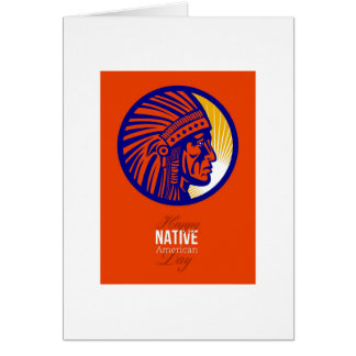 Happy Native American Day Remembrance Greeting Car Card