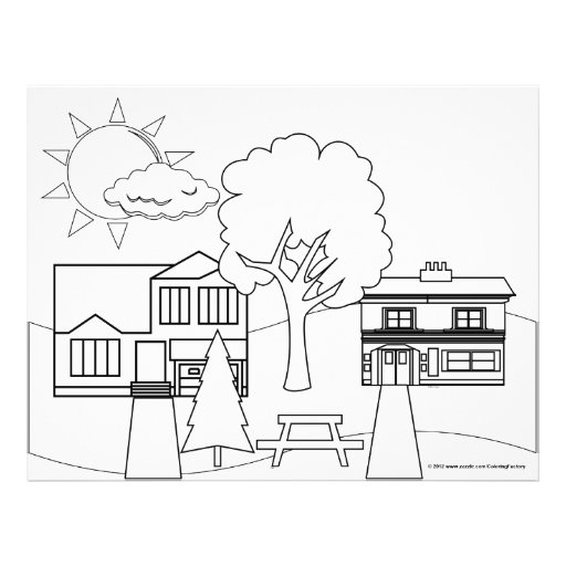 Happy Neighborhood Coloring Page 25 Pack 2 Sided 8 5 Quot X 8 X 11 Coloring Pages