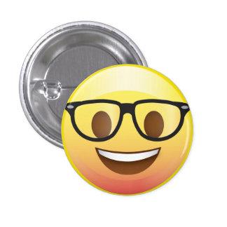 Happy Nerd Glasses Emoji Face Pin