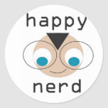 happy nerd stickers